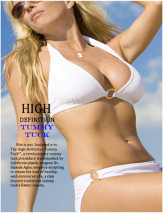 High Definition Tummy Tuck Procedure - Dr. Siamak Agha